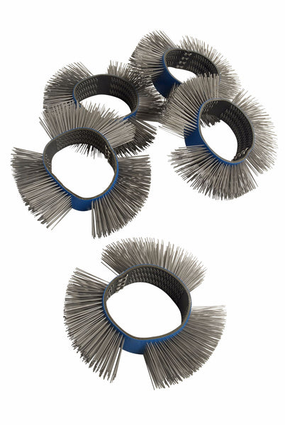 Fast Mover Tools, Wire Brush Wheels, Medium, 5pcs - Houghton Tools