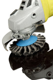 ZIP Wire Brush Whee Blue Bevel 95mm M14 Thread for 115mm - FMTZIPBLUE - Houghton Tools