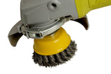 ZIP Wire Brush Wheel Yellow 70mm M14 Thread - FMTZIPYELLOW - Houghton Tools