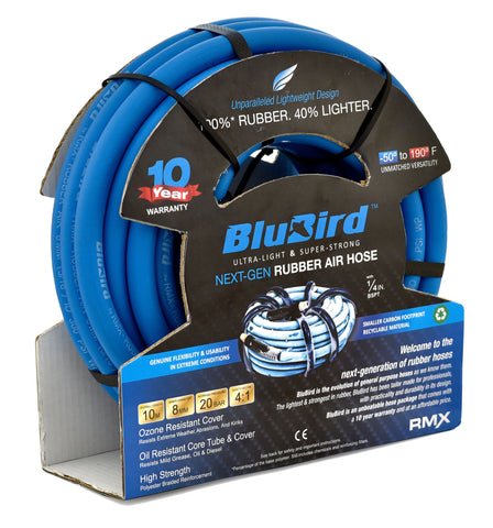 BluBird Next Gen Rubber Air Hose 10mm x 10mtr - BB1010