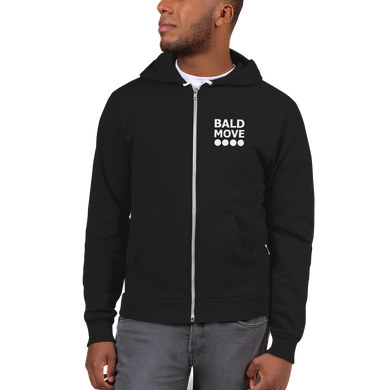 Bald Move Unisex Zip Up Hoodie