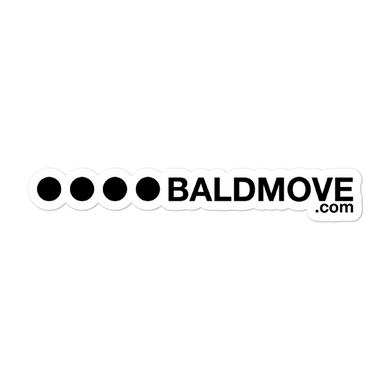 Bald Move Sticker