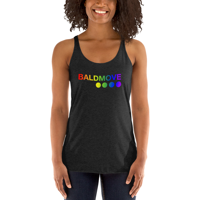 Bald Move Pride Women's Racerback Tank