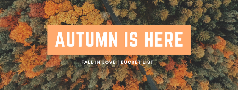 Fall Bucket List. Things to do in October. Fall 2020.