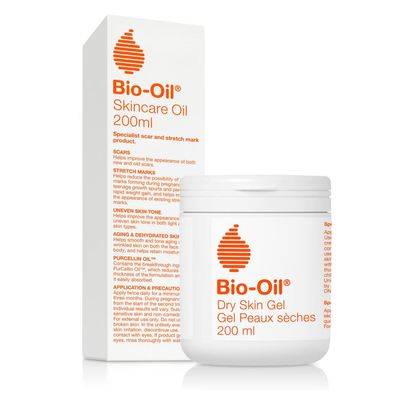 Bio-Oil® Specialist Skincare | Bundle Pack - 2 | Dry Skin Gel + Skincare Oil 200ml