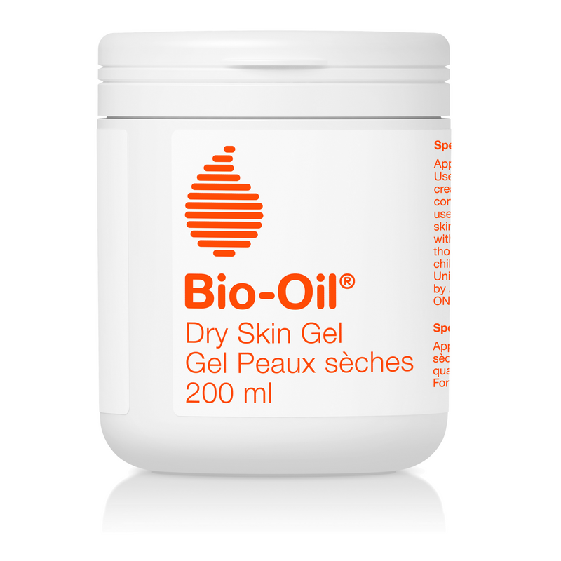 Bio-Oil® Dry Skin Gel was developed by the makers of Bio-Oil Skincare Oil as a unique and innovative way to treat dry skin. Given that most dry skin products contain up to 70% water, Bio-Oil developed a unique formulation that consists of only 3% and 100% active ingredients to treat dry. The next generation in skincare.