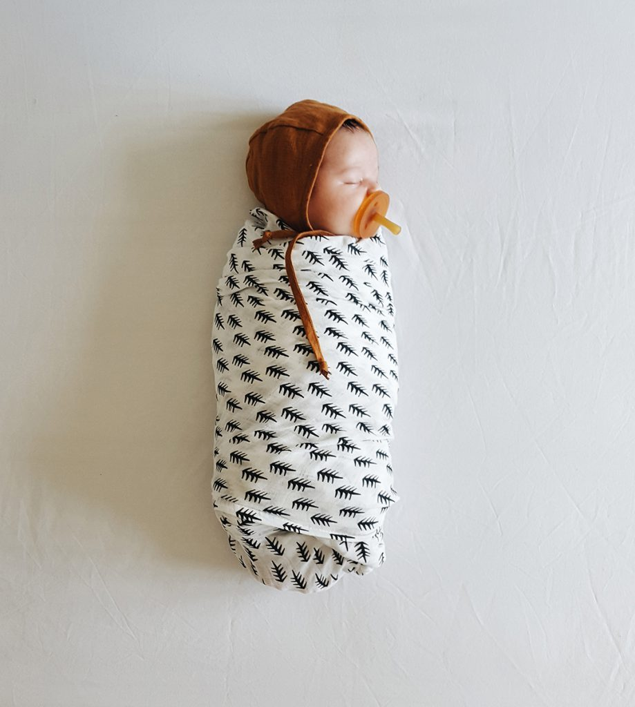 Beautiful and versatile organic baby swaddles
