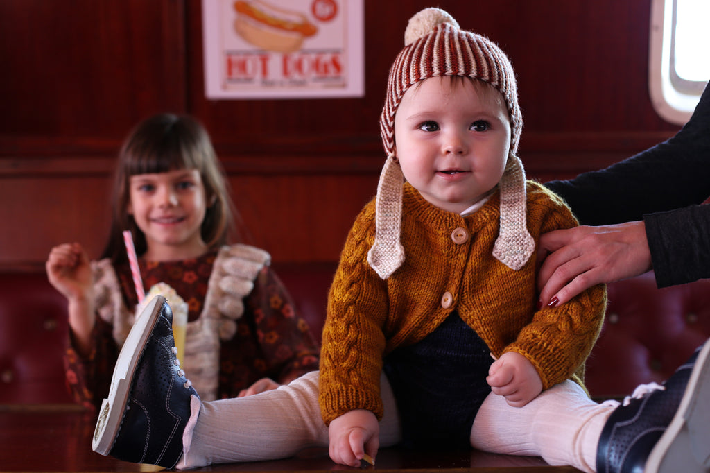 Kalinka Kids Leda Cardigan and Pom Pom hat