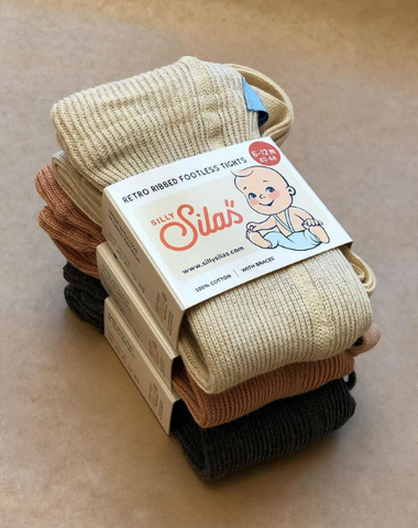 Silly Silas baby tights packaging