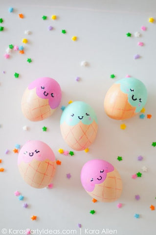 Ice Cream Cone Easter Eggs!