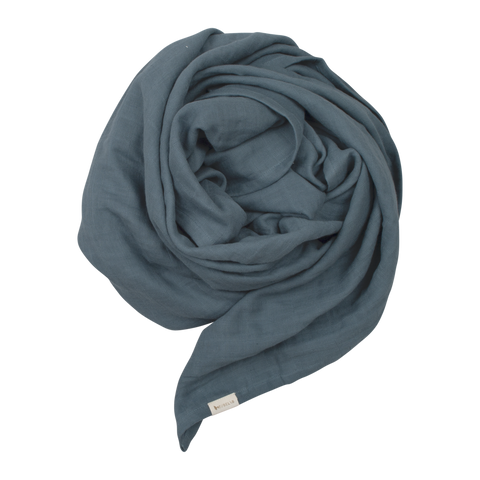 fabelab baby swaddle in blue spruce