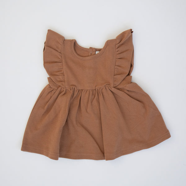 Mebie Baby Honey Cotton Ruffle Dress
