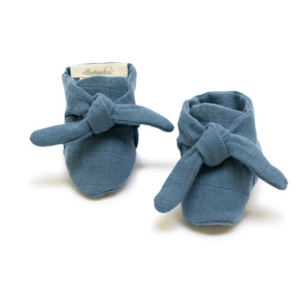 Knotted bootie in Ocean Blue