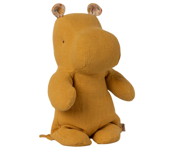 Maileg Small Hippo in Dusty Yellow