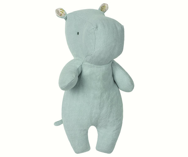 Maileg soft Little Hippo in Aqua