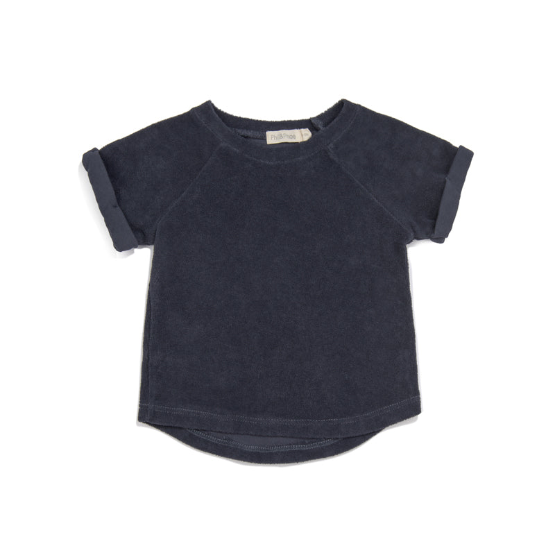 PHIL&PHAE PHIL&PHAE BABY TERRY TOP IN INDIGO