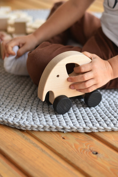 Sabo Concept Wooden Elephant Rolling Toy