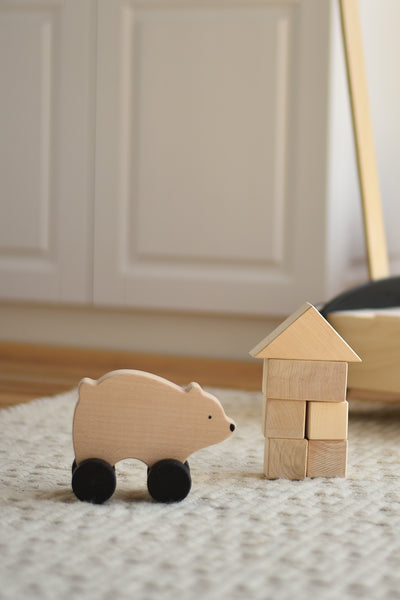 Sabo Concept Wooden Bear Rolling Toy