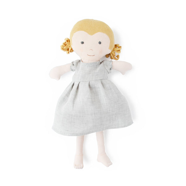 FERN DOLL IN FOGG LINEN DRESS - sugarloaf