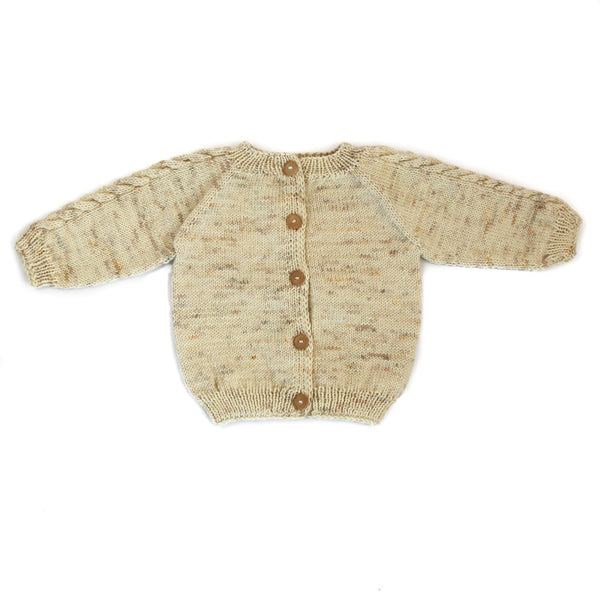 KALINKA KIDS LEDA CARDIGAN IN NATURAL