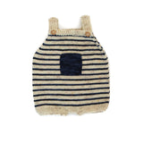 Kalinka KALINKA KIDS ADIRA BABY ROMPER IN NAVY STRIPES