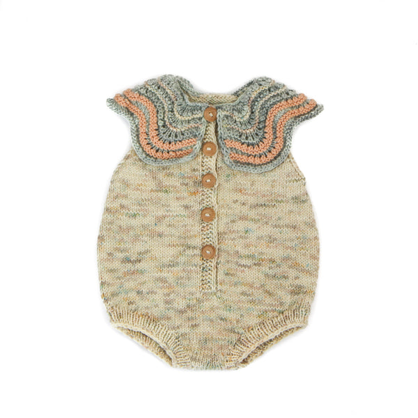 BUTTERFLY ROMPER IN NATURAL