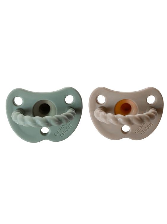 Chewable Charm Chewable Charm 2 Pack Pacifier Twist | Sage + Almond