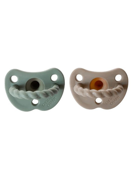 Chewable Charm 2 Pack Pacifier Twist | Sage + Almond