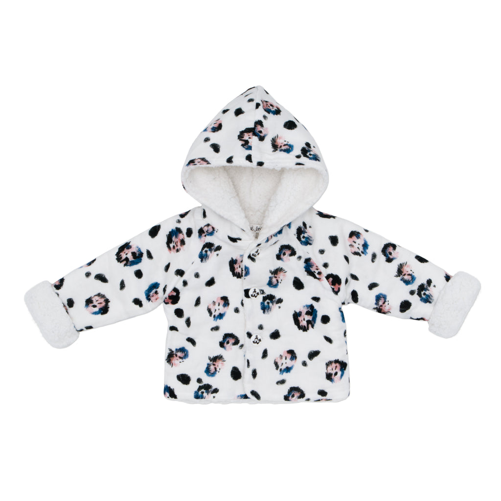 NOE&ZOE NOE&ZOE BABY WINTER JACKET IN SNOW LEOPARD