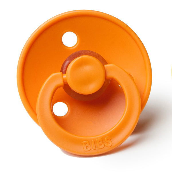 Bibs Pacifiers in Apricot Sugarloaf
