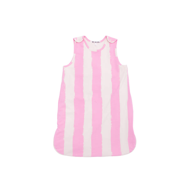 ORGANIC ROSE STRIPES SLEEPING BAG - sugarloaf