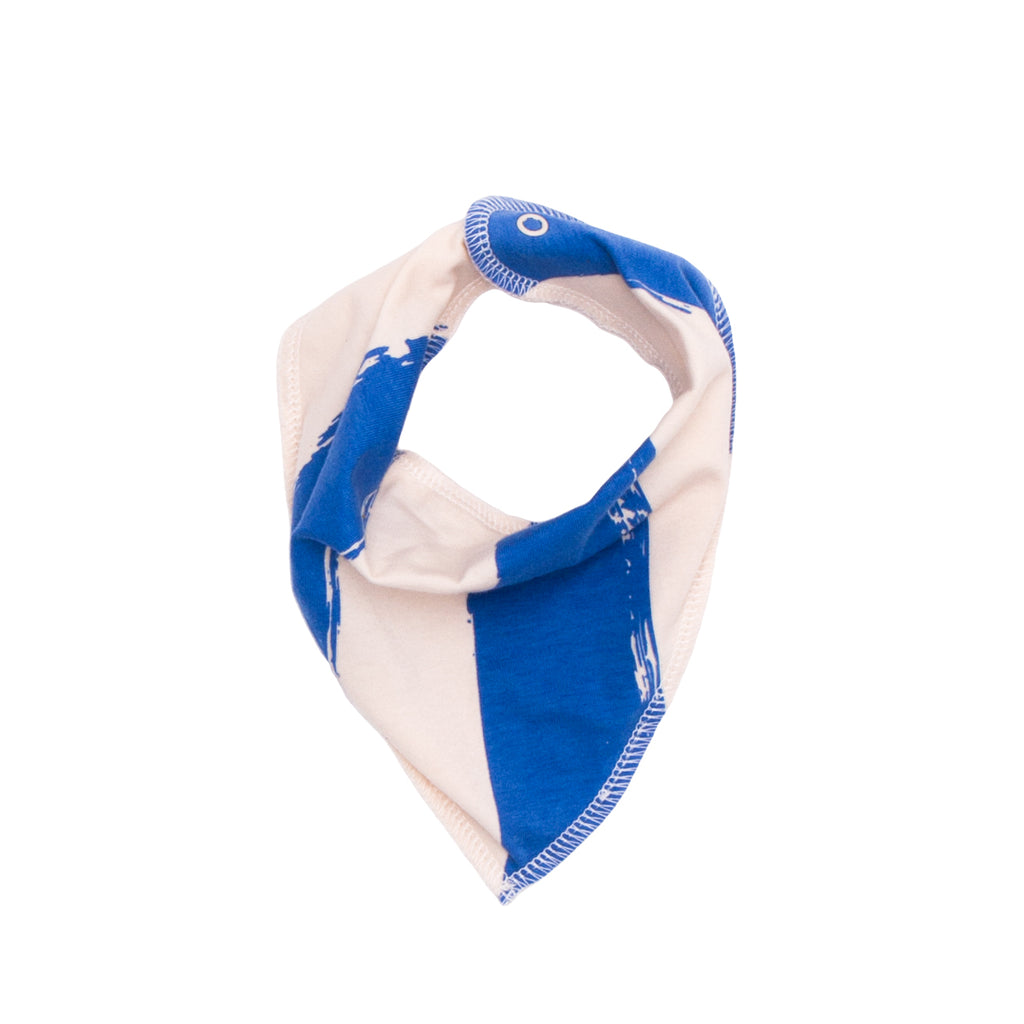NOE&ZOE ORGANIC BABY DROOLING SCARF IN BLUE STRIPES