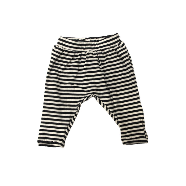 GO GENTLY NATION BAGGY HAREM PANTS IN NAVY STRIPES