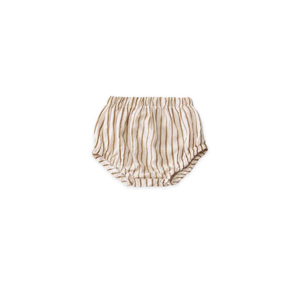 GO GENTLY NATION Baby Bloomers Fennel Stripe - sugarloaf