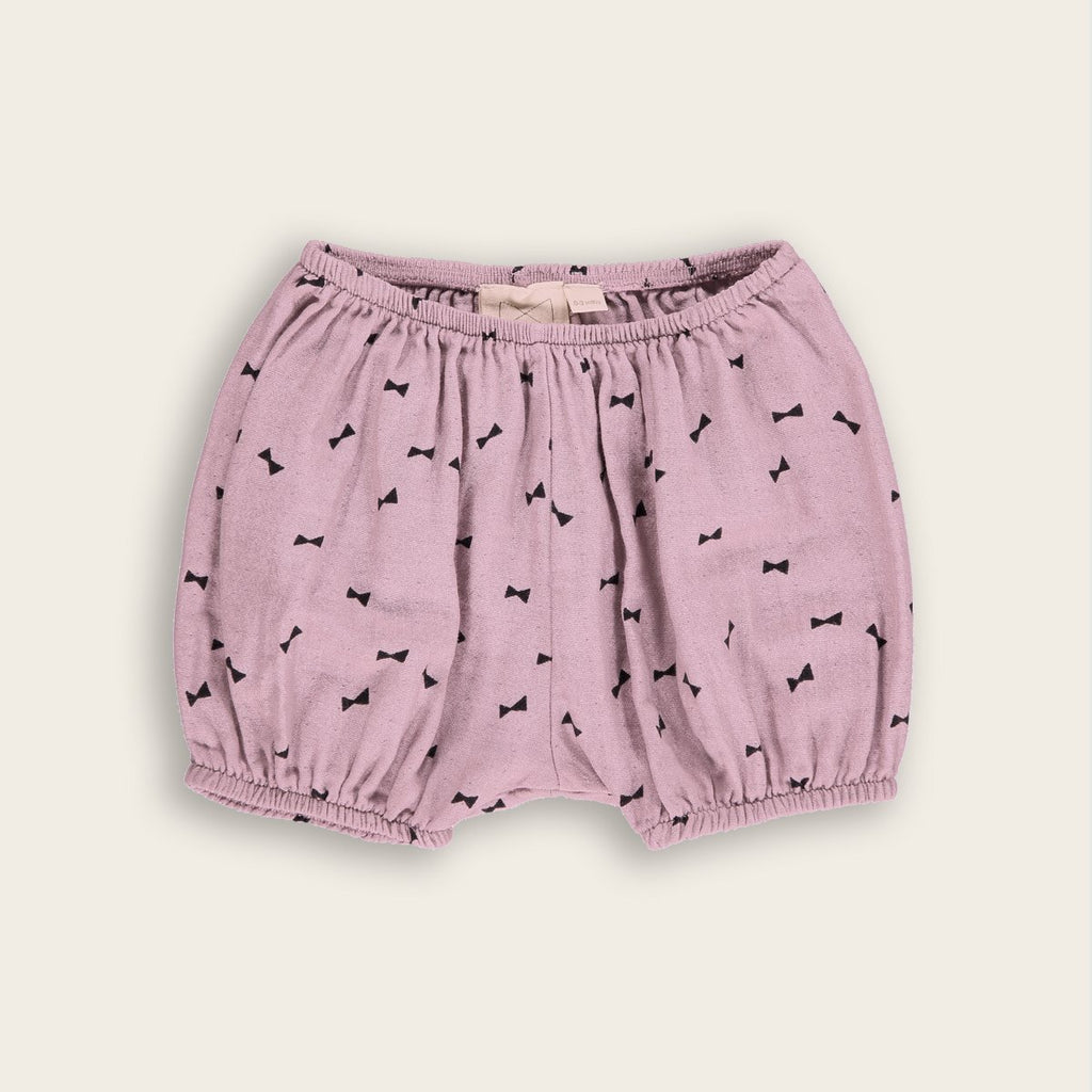 Mini Sibling by Beau Loves Woven Baby Bloomer in Petal and Bows