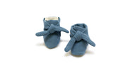 EllieFunDay Knotted bootie in Ocean Blue - sugarloaf