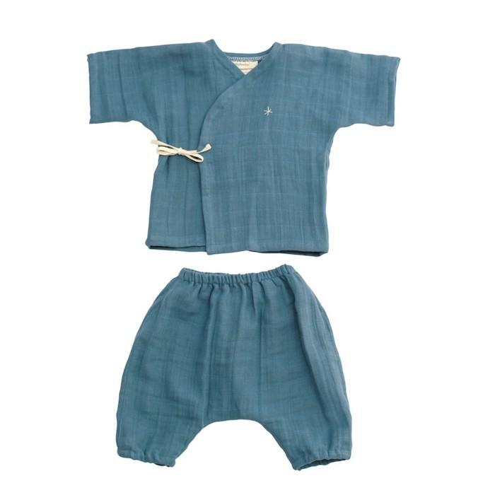 EllieFunDay Kimono Set in Ocean Blue - sugarloaf