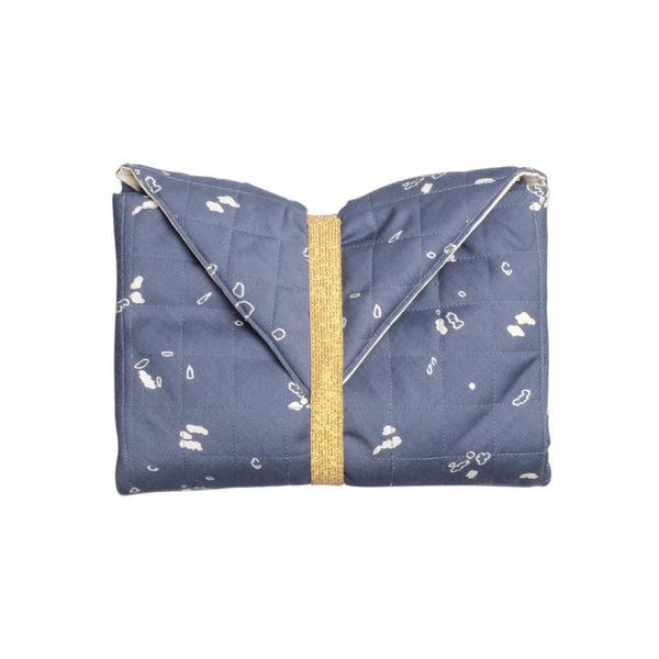 ORGANIC BABY CHANGING PAD IN BLUE - sugarloaf