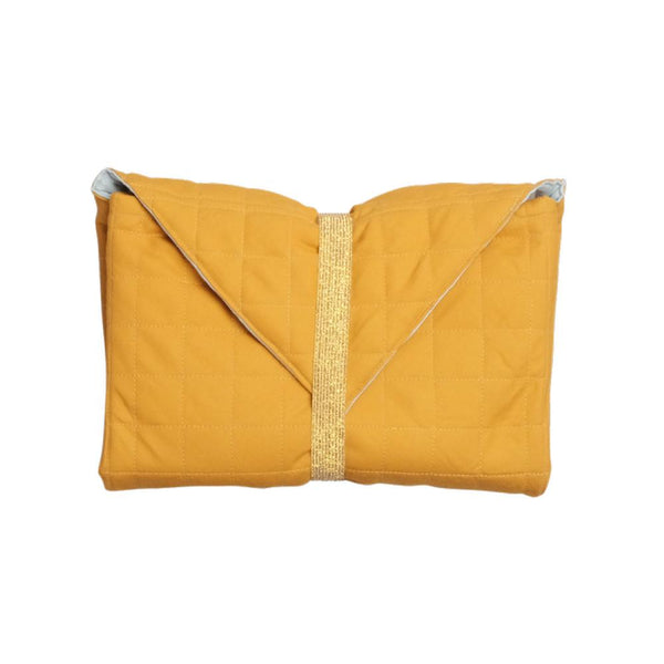 ORGANIC BABY CHANGING PAD IN OCHRE