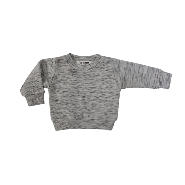 GO GENTLY NATION TEXTURED FRENCH TERRY CREWNECK SWEATER