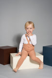Silly Silas Silly Silas footless tights with braces in light brown - pink