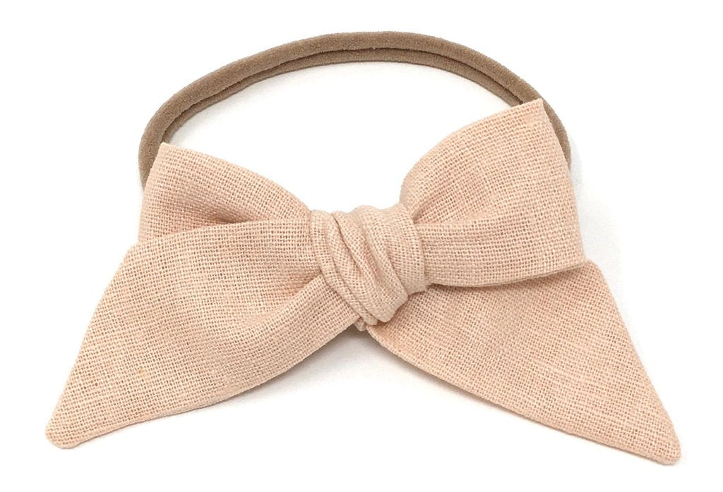 LuluLuvs Baby Bow Headband in Rose - sugarloaf