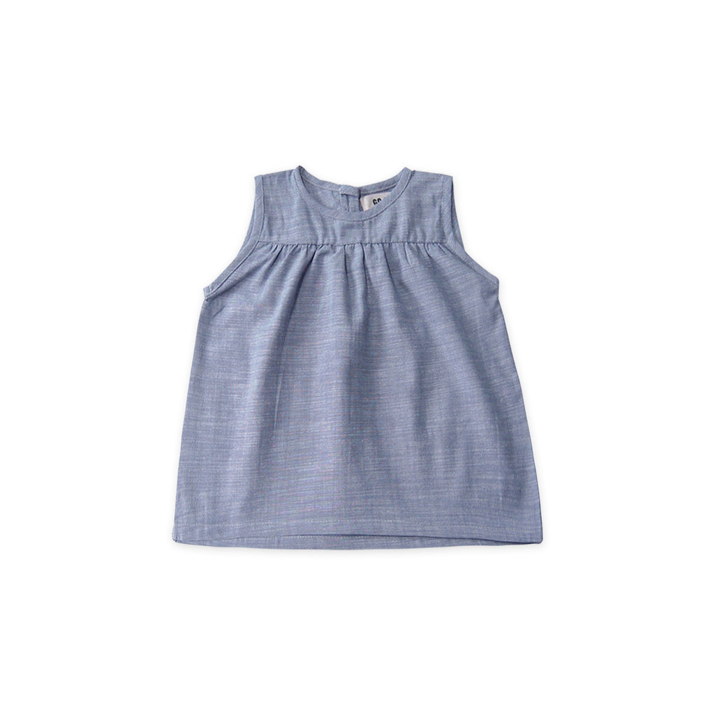 GO GENTLY NATION Go Gently Nation Field Baby Top in Chambray