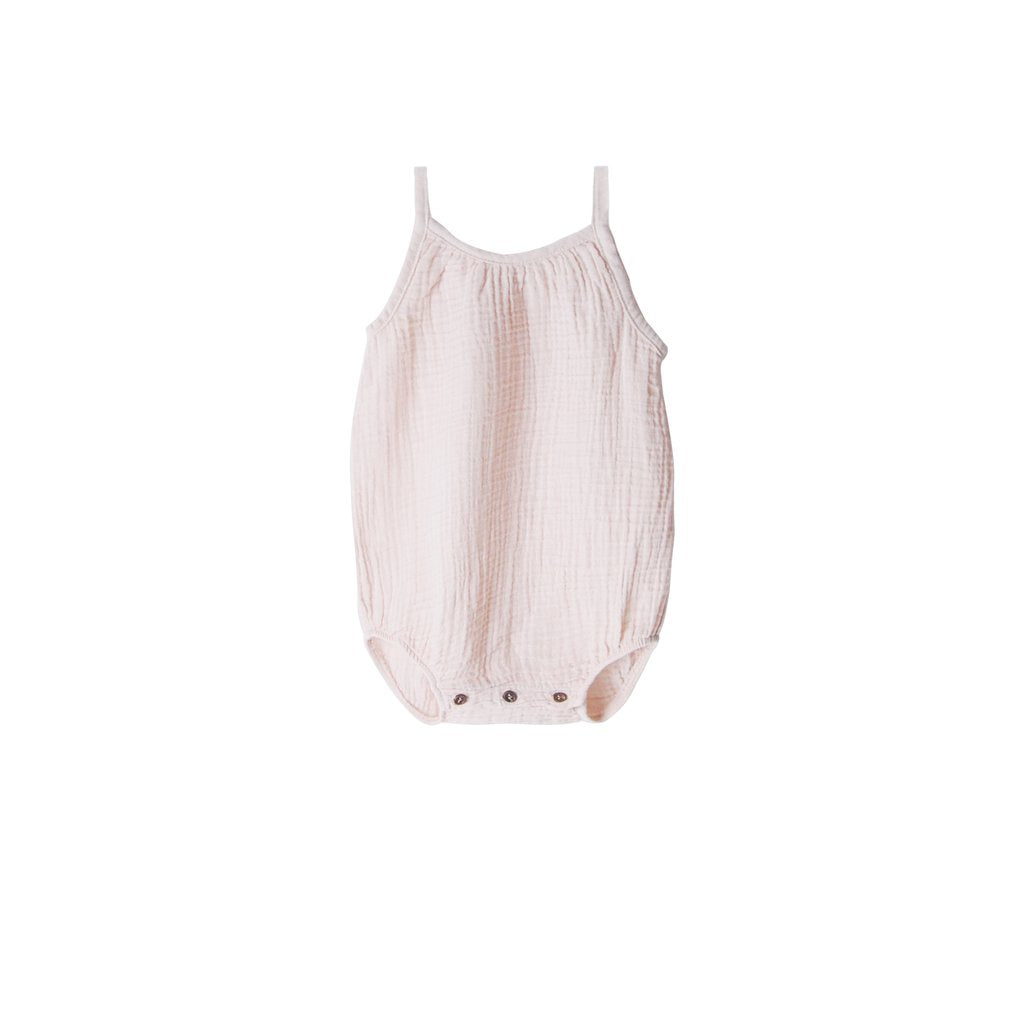 GO GENTLY NATION Go Gently Nation Gauze Romper in Oatmeal