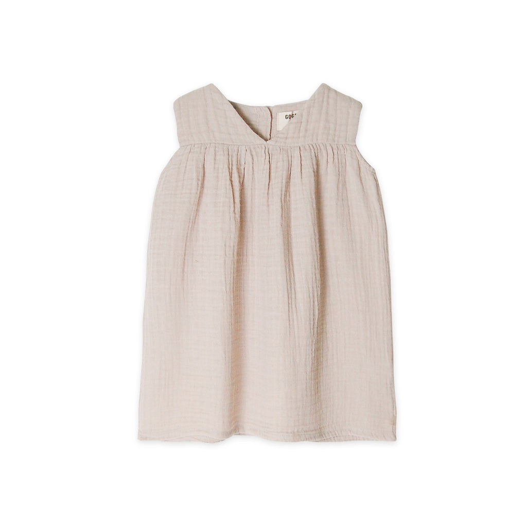 GO GENTLY NATION Gauze Dress in Sandstone - sugarloaf