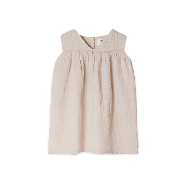Go Gently Nation Gauze Dress in Sandstone