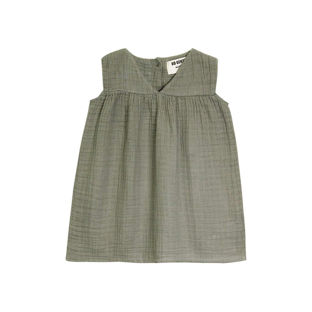 GO GENTLY NATION Go Gently Nation Gauze Frock Baby Dress in thyme