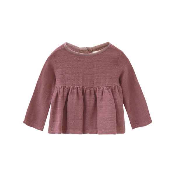 Go Gently Nation Gauze Prairie Top in Berry
