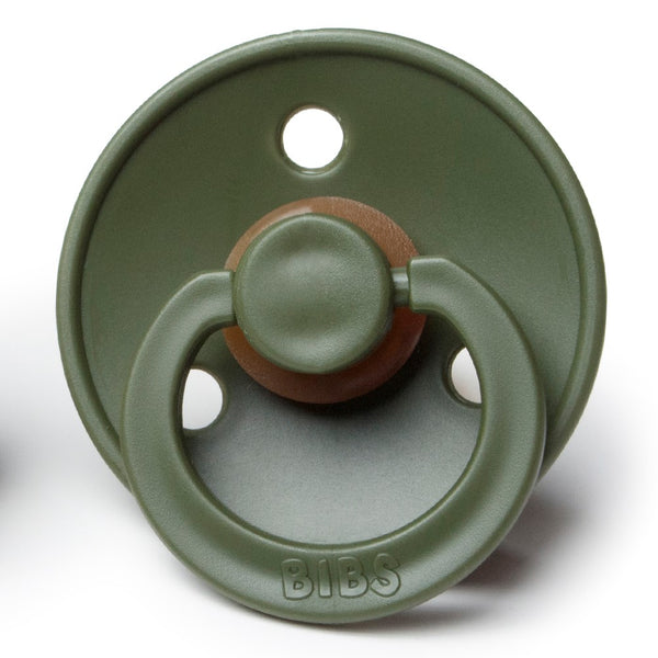 Bibs Pacifiers in Hunter Green (Pair) - sugarloaf