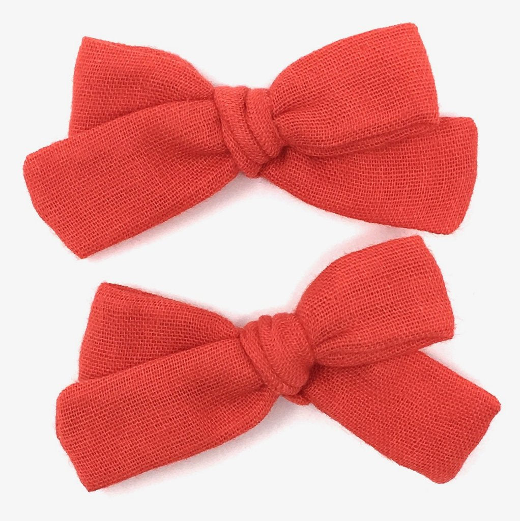 LuluLuvs SKINNY RIBBON PIGTAIL IN RED MAPLE - sugarloaf
